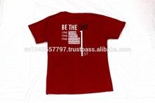 Classic Design Branded Custom Logo Printed 100% Cotton Red T-shirt