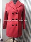 Red fancy women winter coat
