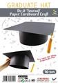 Diy graduação chapéu 10 pacote
