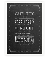 Quality means doing it right Henry ford Inspirational Hand Lettering Quotes Typography Poster