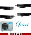 Midea Quad Zone 4x12000 BTU 16 SEER Ducted Mini Split Heat Pump AC