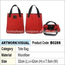 Microfiber Shopping Tote Bag