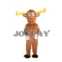 luz de color marrón de renos traje de la mascota