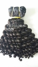 Elegant human hair kinky curl virgin weave curly Afro hair bundles 6A grade hair