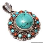 Turquoise and Coral Tibetan nepali jewelry