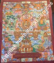 Handpainted Tibetan Thangka Life of Buddha