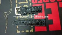 18 20 22 24 26 mm HORN TAIL ALLIGATOR Crocodile Watch Band Hand Made