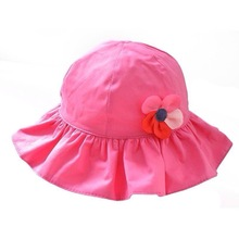 Girl's flower hat, Infant girl's summer hat, Kid's beautiful sun hat.MH-073