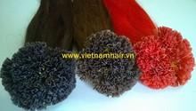 Beautiful karaten Vitp,Itip hair extensions Vietnam hair