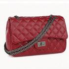 yyw.com cowhide purple leather shoulder handbags