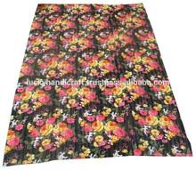 100%cotton quilt flower print indian kantha quilt,bedspread ,quilt throw blanket
