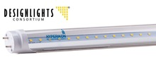 Hyperikon US Inc. LED Light Tube T8, 120cm, 18W, 5000K (Daylight White), Single-Ended Power, Clear Cover, DLC UL RoHS CE FCC