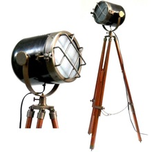 cool marine style floor standing searchlight lamps