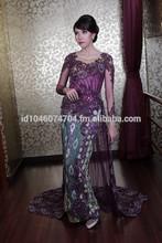 Wedding Dress Kebaya Indonesia 2015 purpel Tail