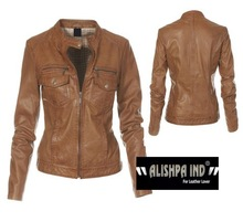 Women leather jacket, Fashion style high quality jacket / Leather Garments in Sialkot