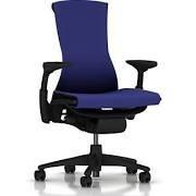 Embody Chair - Arms Graphite Base and Frame Rhythm Iris Fabric