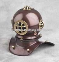 Brass Antique Finish Nautical 8 inch Decorative Diving Helmet, Item number Sai-1603