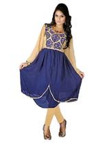 Exclusive Designer New Embroidred Georgette Blue Color Kurti Kurta TopVIKU6008
