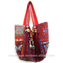 Handmade Cotton BANJARA BAG in Indian Embroidery SKU 6704
