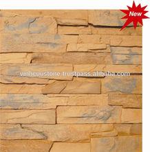 Artificial decorative light concrete ledge stone