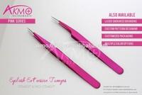 Pro-Straight Sparkle Pink Eyelash Extension Tweezers/ Eyelash Tweezers/ Lash Tweezer