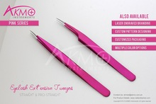 Pro-Straight Sparkle Pink Eyelash Extension Tweezers/ Eyelash Tweezers/ Lash Tweezer