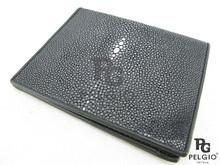 PELGIO Genuine Stingray Skin Men's Wallet Black