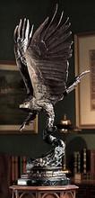 Large Bronze Eagle Sculpture