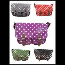 JCwholesale factory price wholesale qualityt Spotty satchel , Lady Satchel bag,Leather Satchel