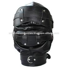 Heavy Duty Padded Locking Leather Hood