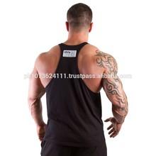 fashion stripes gym singlet Y-back -/ Gold gym singlet -Custom Printed...