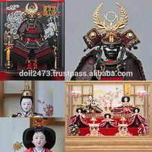 Tasteful and Japanese helmet samurai Hina Ningyo/Gogatsu Ningyo Doll for celebrations , Japanese goods also available