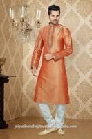 New Pakistani Style Long Party Wear Kurta Neck Designs for Men