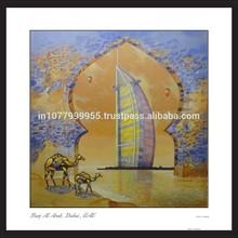 Burj Khalifa Painting Art Print