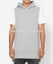 2015 European Men's short Sleeves simple style casual wholesale blank pullover hoodies/customized short sleeve hoody