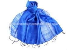 handwoven Raw silk scarf