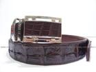 Belt from genuine crocodile leather hornback