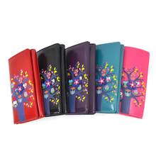 JCwholesale factory price wholesale quality Owl family long purse ladies purse