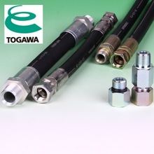 High pressure hydraulic hoses of industrial materials. Made in Japan. TOGAWA RUBBER (power steering high pressure hose)