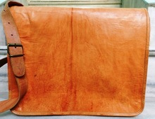 goat leather vintage messenger bags and hand bags