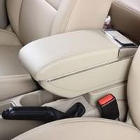 Genuine leather car arm rest Box console box (beige/black colour) case for Hyundai I30
