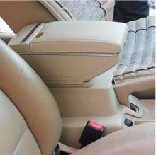 Genuine leather car arm rest box console box (beige/black colour) case for Nissan Livina