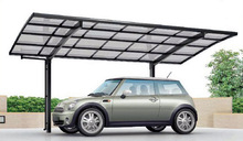 Popular carport garage with polycarbonate roof made in Japan