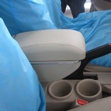 Genuine leather car arm rest Box console box (black/beige/grey colour) case for Peugeot 301/307