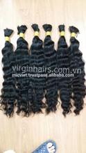 6a grade wavy full cuticle tangle free human virgin hair