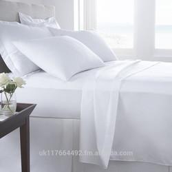 Luxury 400TC Duvet Cover - 100% Cotton (White or Cream)