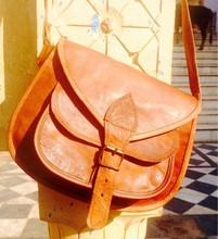 real got leather brown side bag/saddle bags/genuine leather side bag