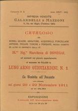 Impresa Vendite Galardelli e Mazzoni. Catalogo dei Mobili,quadri,miniature,acquerelli,porcellane Antiche,pedane Turche e Pers