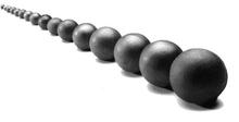 High-chrome cast grinding media balls