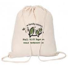 The family cotton drawstring bag 2015